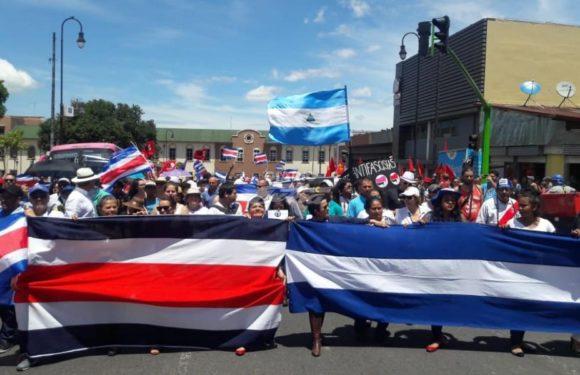 Pinoleros y Ticos marchan juntos por la mas social y no a la xenofobia