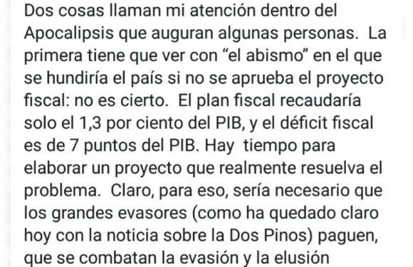 """""""Si no se aprueba el Plan Fiscal no habrá ningún abismo"""""""