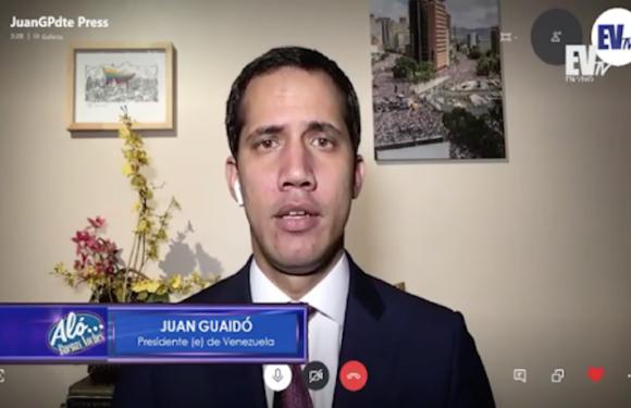 Guaidó sobre posible intervención militar: «El objetivo definitivo es la liberación de Venezuela»